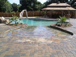 in-ground pool patio